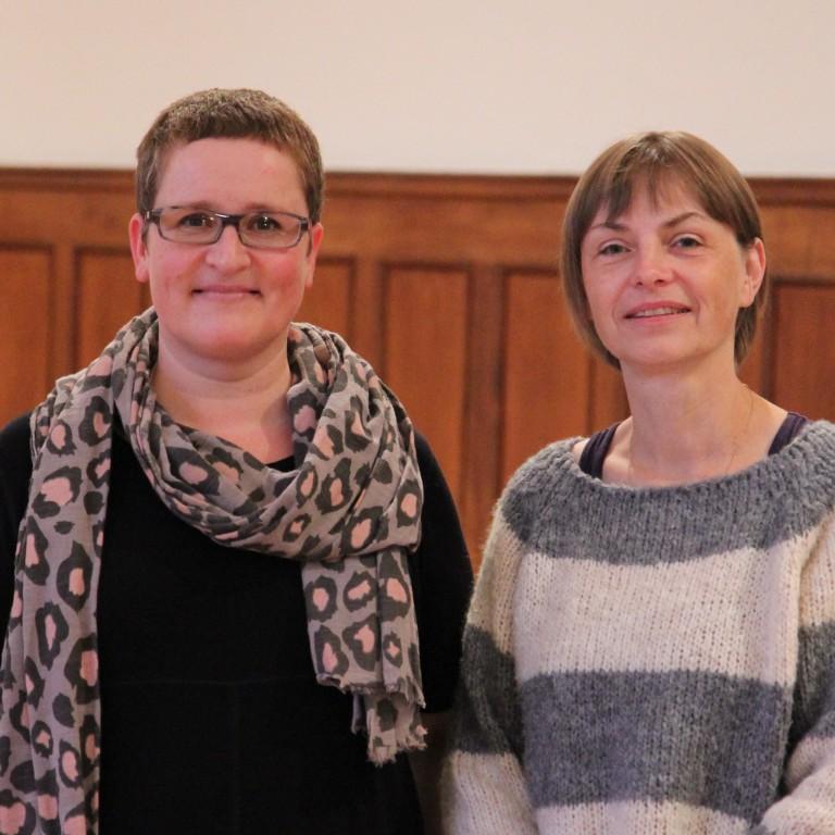Frau Gleinser und Frau Horz